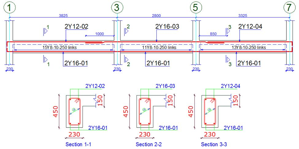 Detailing and arrangement  of beam reinforcements