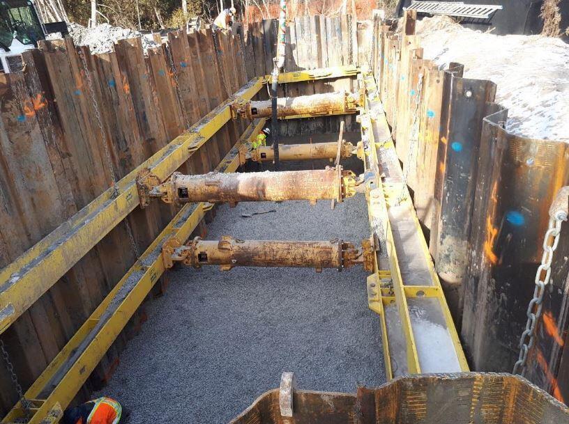 design of braced cut for excavation