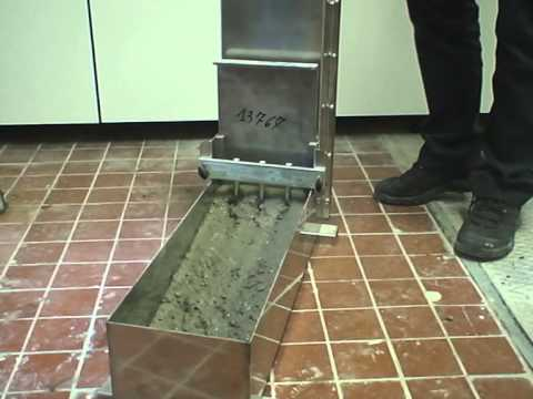 L-box test for self-compacting concrete