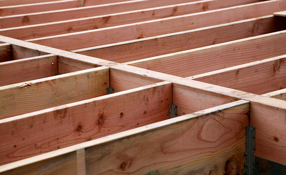 Typical arrangement and design of timber joists