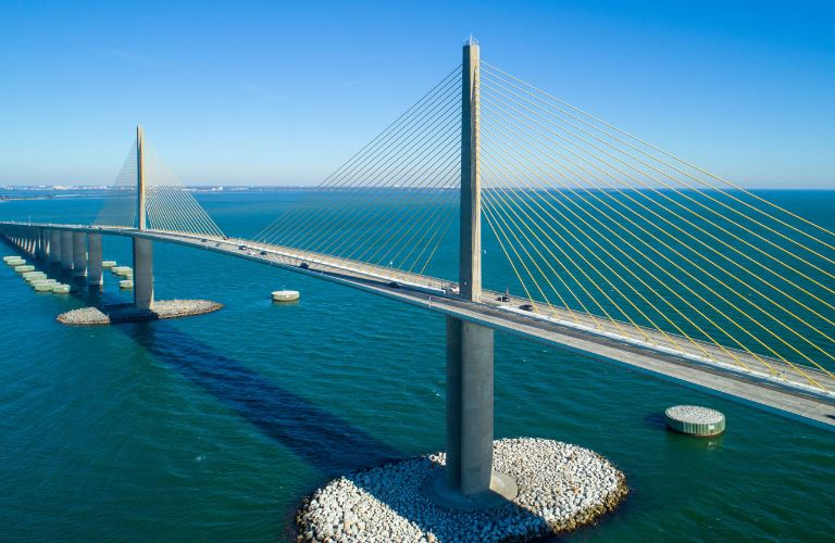 Cable stayed bridges are works of structural engineering